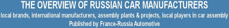 COMMANDER LE PANORAMA DES CONSTRUCTEURS AUTOMOBILES EN RUSSIE