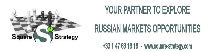 YOUR PARTNER TO EXPLORE RUSSIAN MARKETS OPPORTUNITIES : +33 1 47 63 18 18  www.square-strategy.com